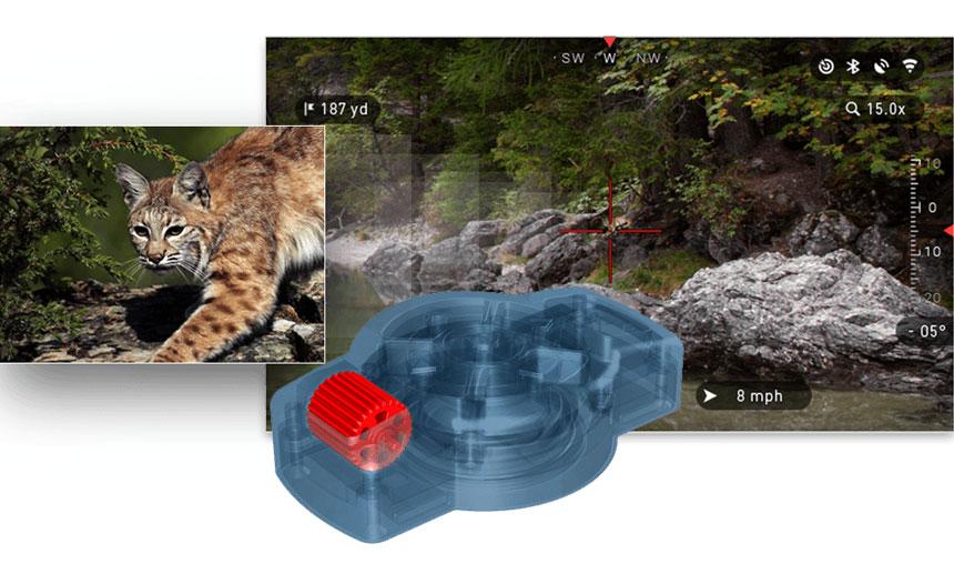 ATN X-TRAC 智能设备 夜视 热成像 瞄准镜 战术蓝牙遥控器