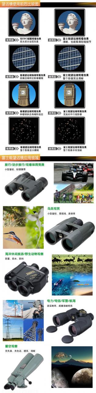 日本富士能便携式双筒望远镜KF 8X24 H