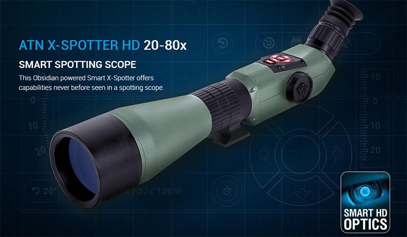 美国ATN X-Spotter 20-80x日夜两用夜视仪 警用高清摄录取证